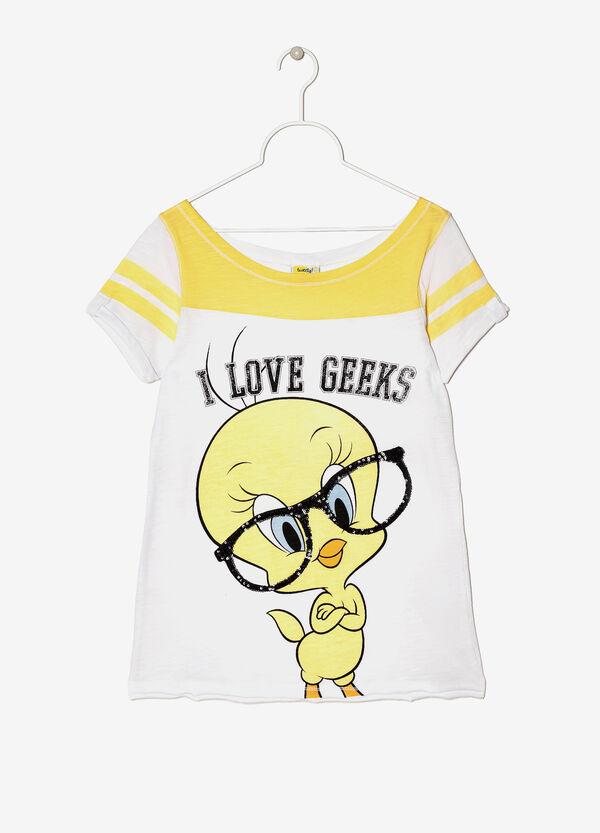 T-shirt cartoons con scollo a barchetta | OVS