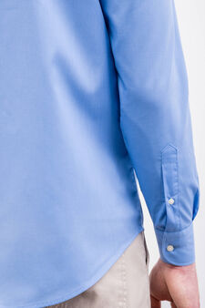 Regular-fit cotton blend formal shirt, Soft Blue, hi-res