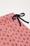 Printed pyjama shorts in cotton, White/Red, hi-res