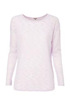 Smart Basic patterned stretch T-shirt, Lilac, hi-res