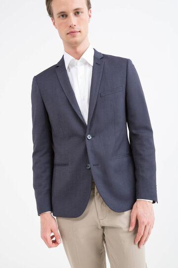 Slim fit stretch patterned blazer