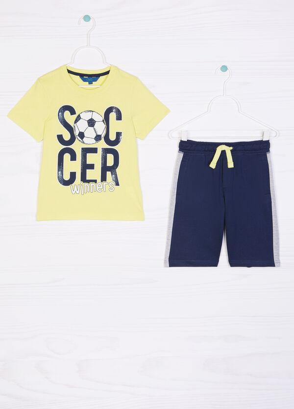 Printed T-shirt and Bermuda shorts set | OVS