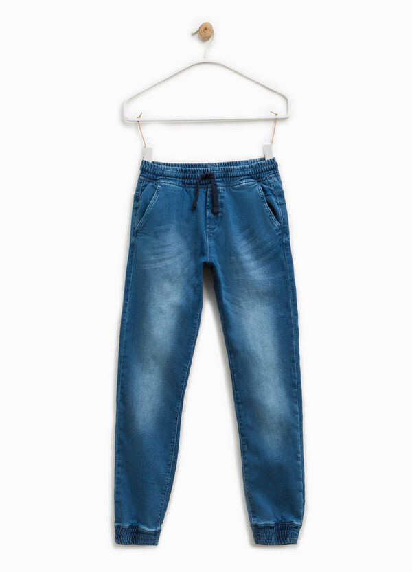 Jeans stretch effetto used con coulisse | OVS