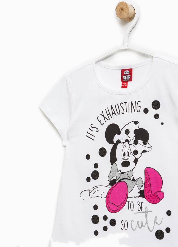 Camiseta con estampado de Minnie y strass | OVS