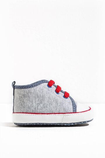 Sneakers mélange, Grigio melange, hi-res