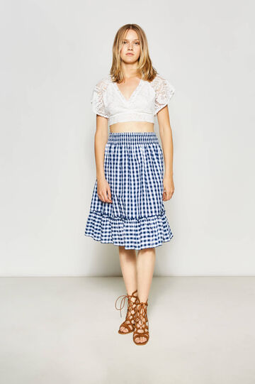 High-waisted cotton skirt