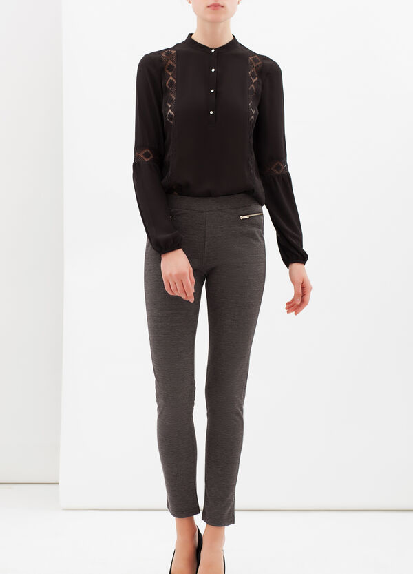 Stretch leggings with zip | OVS