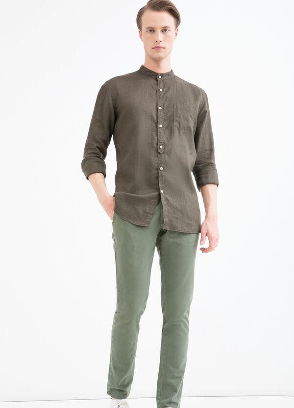 Camicia in lino colletto alla coreana   OVS