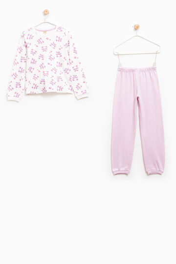 100% cotton printed pyjamas, Cream White, hi-res