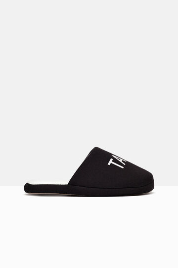 Slipper with raised sole, Black, hi-res