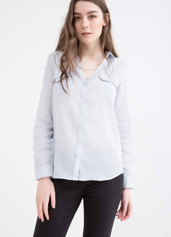 Cotton blend shirt with pockets | OVS