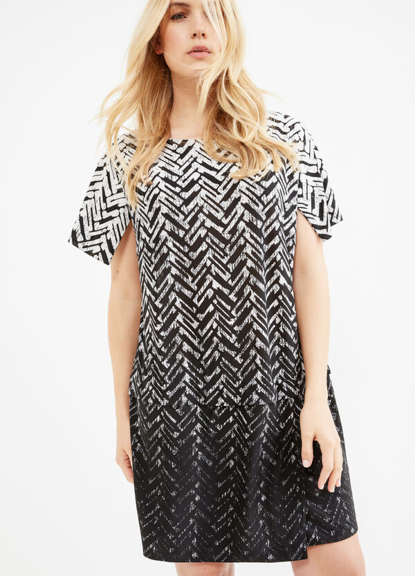 Curvy stretch dress with all-over print | OVS