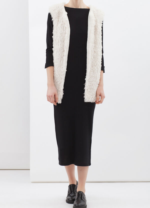 Plain faux fur waistcoat | OVS