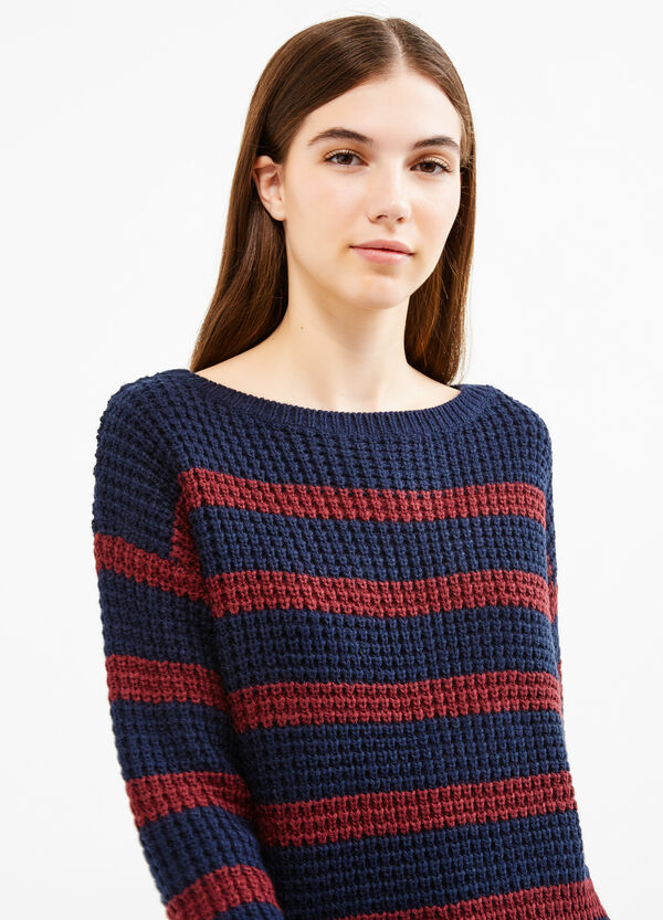 Striped pullover with boat-neck   OVS