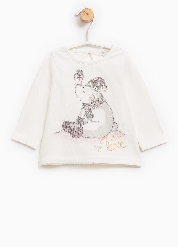 Camiseta de manga larga con estampado | OVS