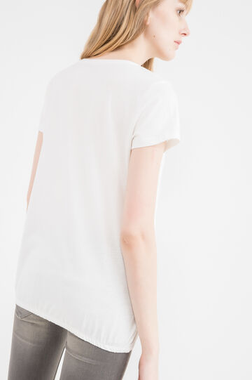 100% cotton T-shirt with pocket, White, hi-res