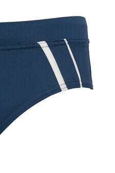 Stretch swim briefs with drawstring waist., Light Blue, hi-res