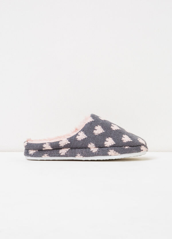 Slippers with heart pattern | OVS