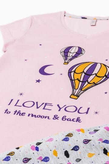 100% cotton printed pyjamas, Grey/Pink, hi-res