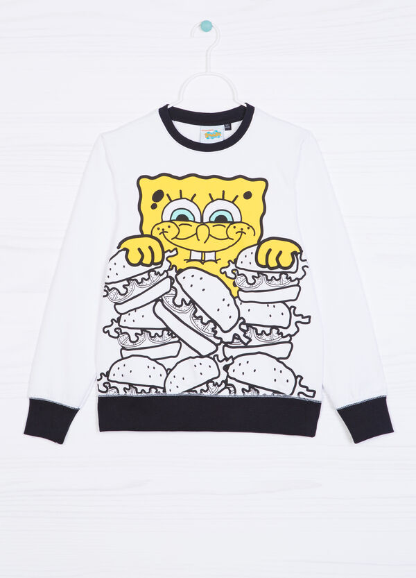 100% cotton hoodie with SpongeBob print | OVS