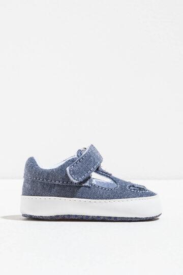 Sneakers con suola a contrasto, Denim, hi-res