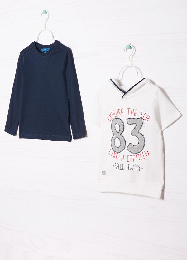 Completo felpa e t-shirt in cotone | OVS