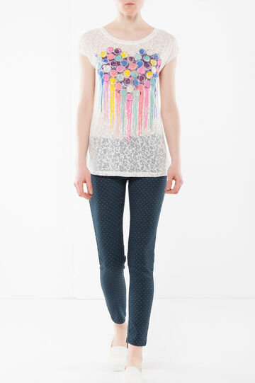 T-shirt con stampa , Bianco, hi-res