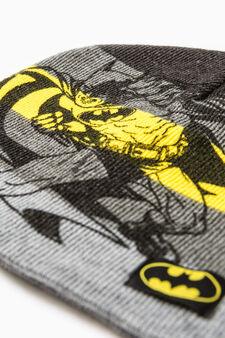 Knitted Batman beanie cap, Dark Grey, hi-res