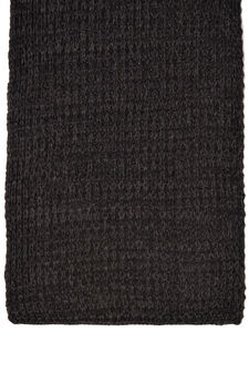 Solid colour knitted scarf, Black, hi-res