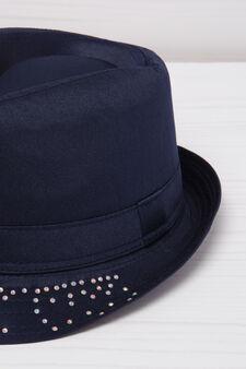 Diamanté fishing hat, Navy Blue, hi-res
