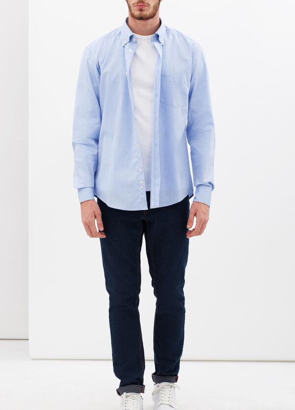 Camicia slim fit in oxford di puro cotone | OVS