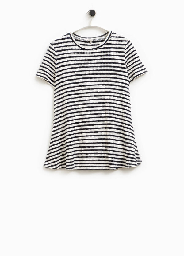 T-shirt viscosa a righe Smart Basic | OVS