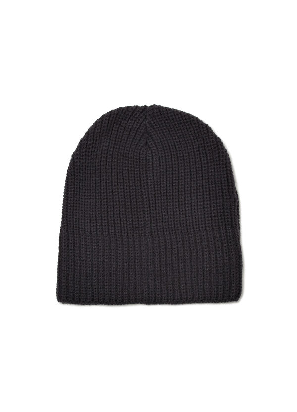 Solid colour knitted beanie cap | OVS