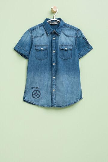 Camicia di jeans maniche corte