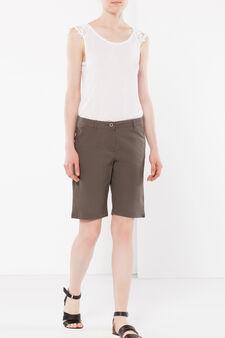 Stretch Bermuda shorts, Army Green, hi-res