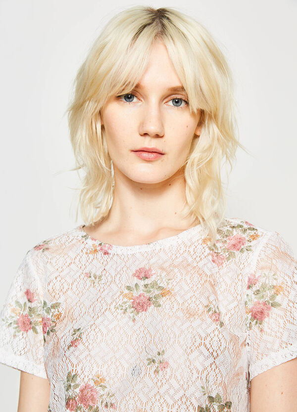 Floral print openwork blouse | OVS