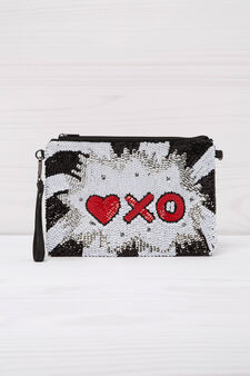 Sequinned clutch, Multicolour, hi-res