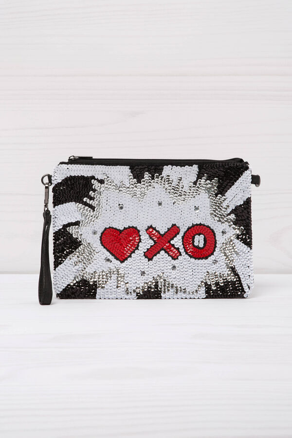 Sequinned clutch | OVS