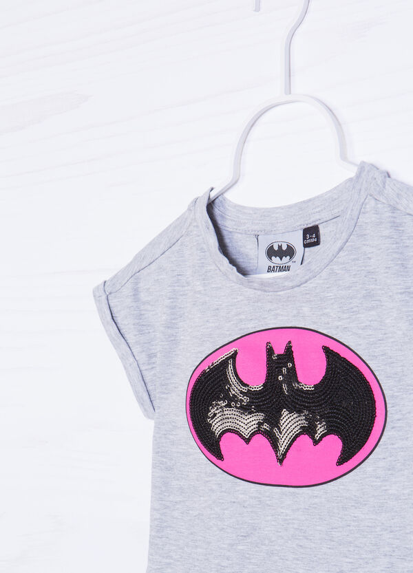 Batman sequin cotton T-shirt | OVS