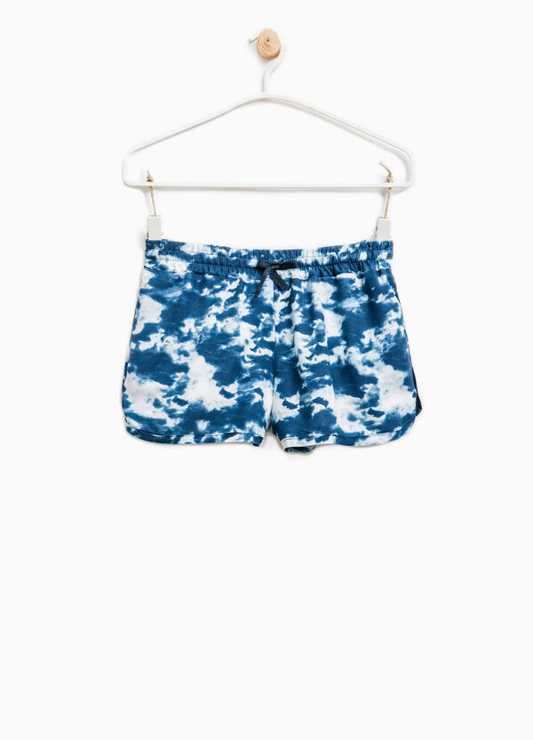 Patterned shorts with elasticated waistband. | OVS