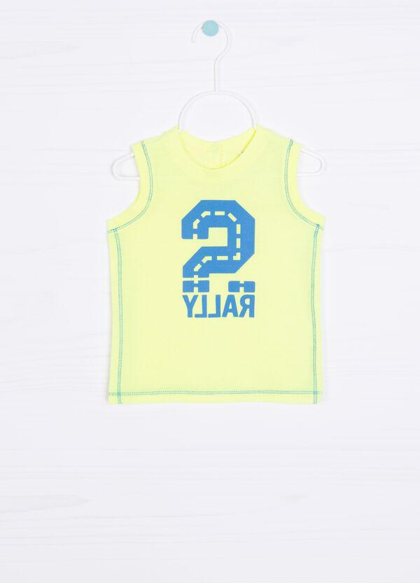 Cotton blend printed vest top | OVS