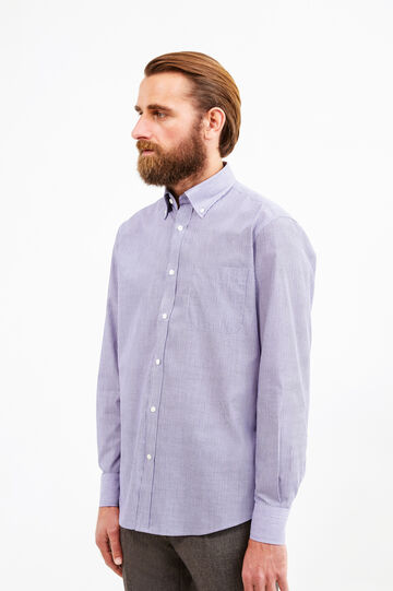 Cotton formal shirt with regular fit, Purple, hi-res