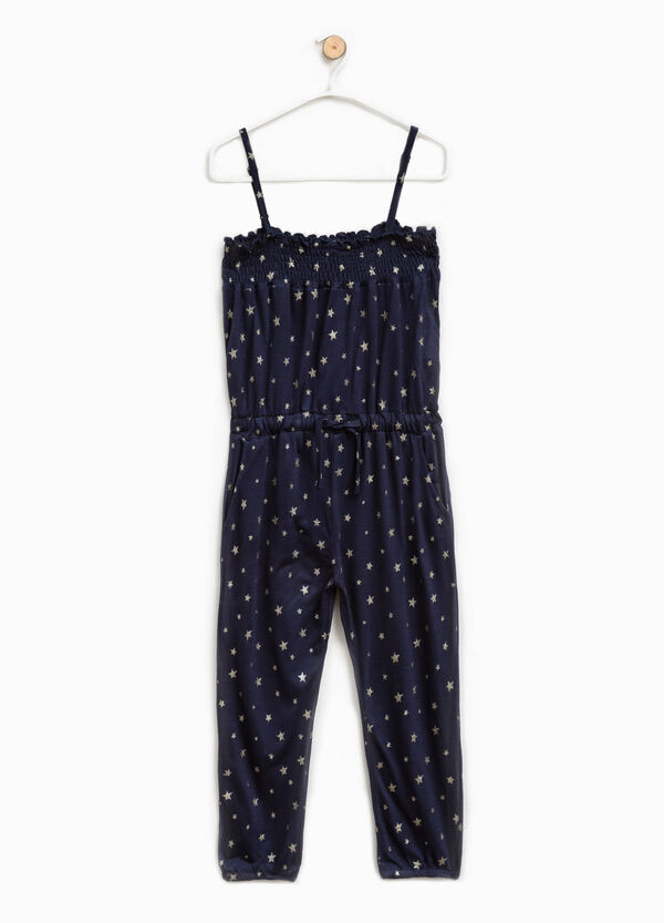 Viscose pinafore with star pattern | OVS