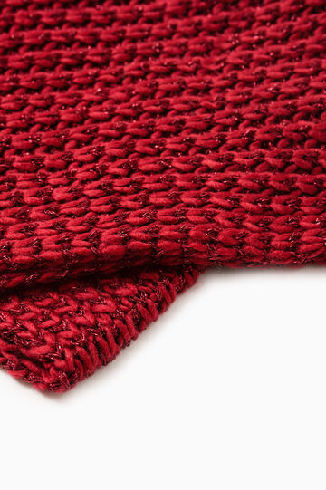 Wide knit scarf, Red, hi-res