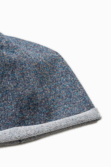 Beanie cap with lurex, Blue, hi-res