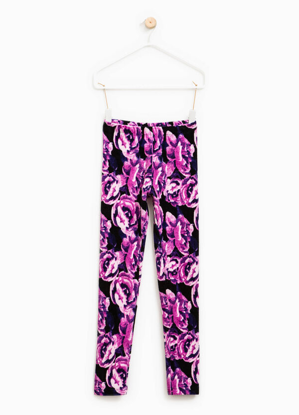 Leggings a costine stampa all-over | OVS