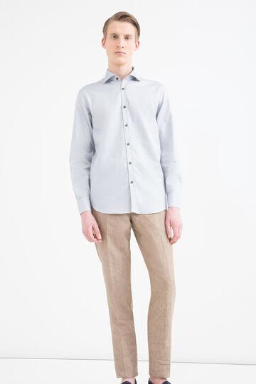 Camicia regular fit fantasia, Grigio, hi-res