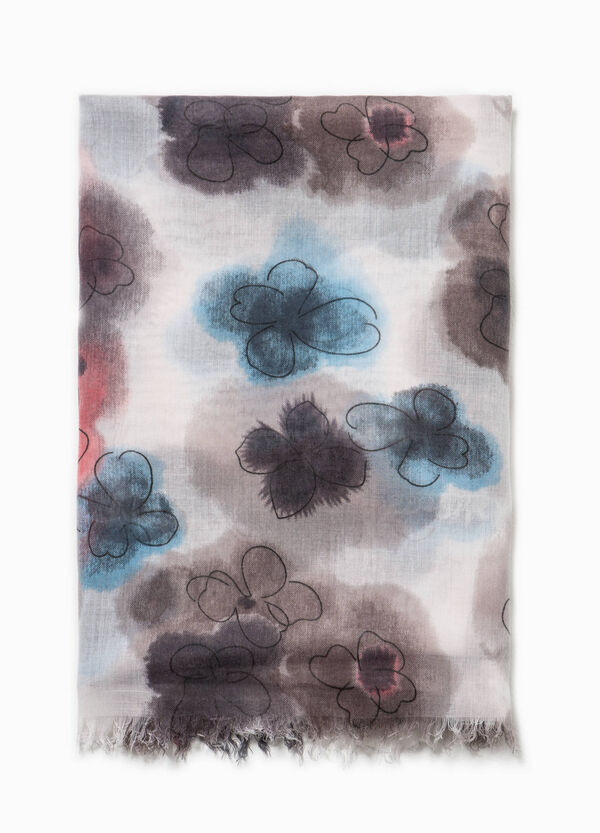 Cotton scarf with floral pattern | OVS