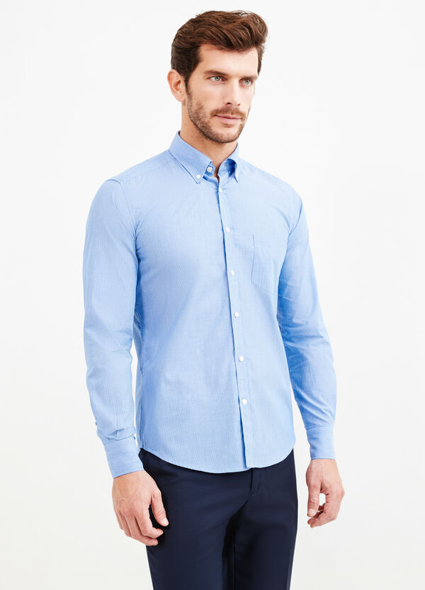 Striped slim fit formal shirt | OVS