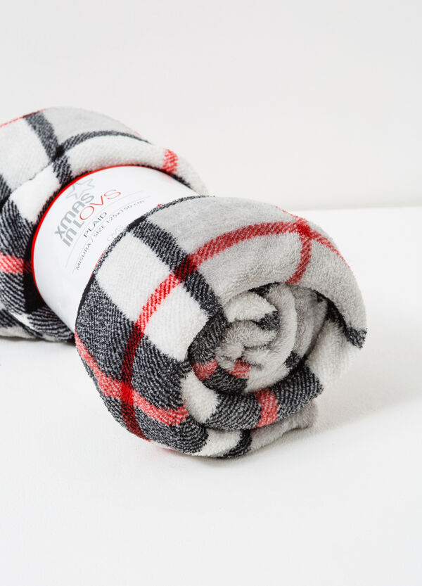 Fleece throw with tartan pattern | OVS